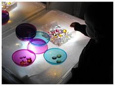 Maternelle table lumineuse