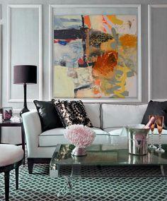 Wall artt behind sofa/ artist Khalid Shahin