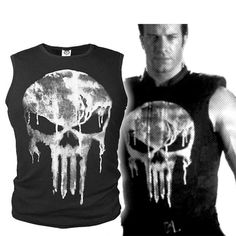 The Punisher Skull Vest Fashion Sleeveless Men's Vest Shirt Cosplay Tops #Unbranded #Fashion
