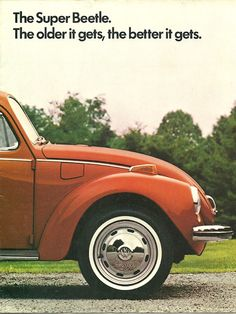 1972 VW Bug brochure (ô.ô) Learned to drive in a Super Beetle. Vw Vintage, Photo Vintage, Ferdinand Porsche, Carros Vw, Vw Super Beetle, Beetle Bug, Vw Classic, Vw Cars, Cute Cars
