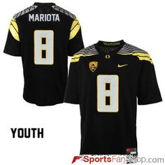 41a2bfbce Nike Oregon Ducks Marcus Mariota  8 Black Youth(Kids) Jersey