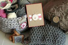 """Cartes et étiquettes cadeaux par Caroscrap - Crochet et Tricot - avec les tampons """"Made for You"""""""