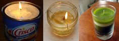How To Make Wax to Make Candles: Old Candles, Crisco, & Olive Oil