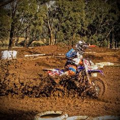 Such a muddy race Shared by Motorcycle Clothing - Two-Up Bikes Motorcycle Outfit, Motorcycle Helmets, Off Road Moto, Motocross Photography, Moto Wallpapers, Racing Quotes, Dirt Biking, Ride Or Die, Freestyle