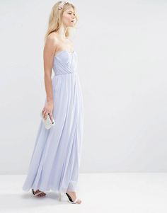 Buy ASOS PETITE WEDDING Multiway Mesh Maxi Dress at ASOS. With free delivery and return options (Ts&Cs apply), online shopping has never been so easy. Get the latest trends with ASOS now. Strapless Dress Formal, Formal Dresses, Asos Petite, Bridesmaid Dresses, Wedding Dresses, Fashion Online, Tulle, Shopping, Maid Of Honour