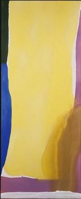 "Helen Frankenthaler, Wales, 1966, acrylic on canvas, 113-3/16"" x 45-1/16"".  Collection of the National Gallery of Art."