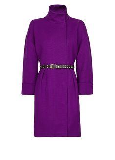 MANGO - Pleated coat with belt