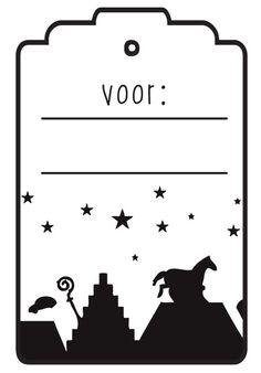 Naam label printen voor sinterklaas pakjes | www.kleertjes.com kinder- en babykleding