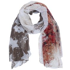 Scarf with basic brown colors and star design. www.yehwang.com