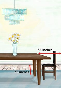 The Property Brothers Design Cheat Sheet - Dining room table distances Property Brothers Designs, Property Brothers Kitchen, Dining Room Furniture, Dining Room Table, Home Furniture, Furniture Dolly, Furniture Layout, Dining Rooms, Feng Shui