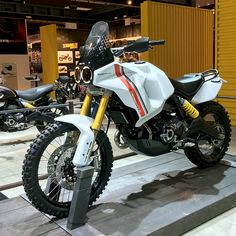 Hot off the press from the EICMA show: the Scrambler Desert X concept from Ducati. Is this the best-looking Scrambler variant yet? Now starring in our roundup of the most important bikes at EICMA. Click through to see the others that made the cut. Ducati Motorcycles, Custom Motorcycles, Custom Bikes, Bicycle Wallpaper, Horse Wallpaper, Pvc Bike Racks, Bicycle Storage, Bicycle Rack, Trail Motorcycle