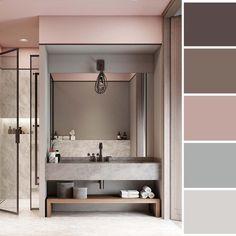 Bathroom Decor with Pink Vintage Memorabilia Home Room Design, Bathroom Interior Design, House Design, Bad Inspiration, Bathroom Inspiration, Room Colors, House Colors, Style Deco, Interiores Design