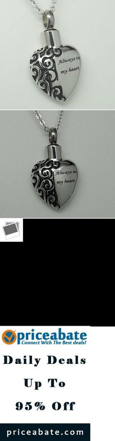 #priceabatedeals ALWAYS IN MY HEART CREMATION JEWELRY URN NECKLACE MEMORIAL KEEPSAKE URN PENDANT - Buy This Item Now For Only: $10.5