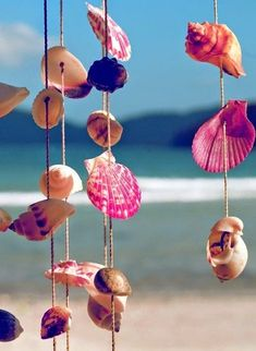 Móviles de caracolas y conchas de mar   Mi Casa es Feng