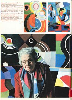 Rétrospective Sonia Delaunay au musée national dArt moderne (photo J. Sonia Delaunay, Robert Delaunay, Kandinsky, Artists For Kids, Art Moderne, Textile Artists, Art Deco Design, Textiles, Artist At Work