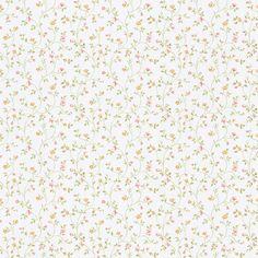 Rasch Tapete Petite Fleur III 294735 Blümchen Blätter weiß bunt Landhausstil