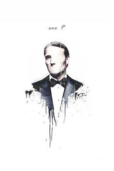 Hannibal fanart. Mads Mikkelsen would make a beautiful Phantom.