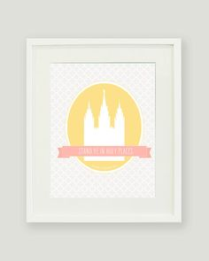 LDS Young Women 2013 Theme Printable Poster. Stand Ye In Holy Places.. $7.00, via Etsy. #youngwomen #theme