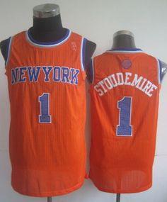 New York Knicks #1 Amare Stoudemire Orange Swingman Jersey