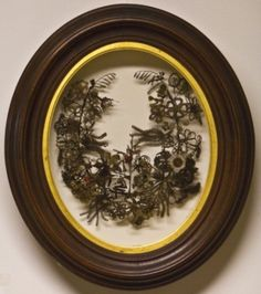 The art of mourning: Vintage wreaths & other memorial keepsakes made with the hair of the dead   Dangerous Minds