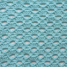 Lattice Trilogy Free Crochet Stitch Tutorial (Make It Crochet) Crochet Stitches Patterns, Knitting Stitches, Stitch Patterns, Knitting Patterns, Lace Knitting, Knitting Needles, Crochet Shawl, Crochet Doilies, Free Crochet