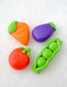 Vegetable Charms, extra simple and cute