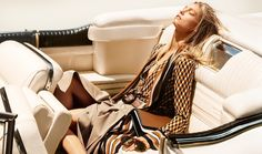 Sasha Pivovarova pose on Michael Kors resort 2016 campaign Photoshoot