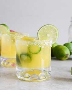 Mango jalopeno margaritas are spicy AND sweet
