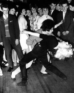 Teens dancing the Twist at the Majestic Ballroom, Newcastle, 1962