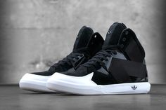 This summer, adidas Originals introduces the C-10. Inspired by innovative automobile design and cutting edge architecture, the C-10 draws from adidas running, basketball and fashion archives. Drawing off of design cues and inspiration from basketball's Crazy 1 and Forum, . highsnobiety, adidas, hi-tops, dope, they have almost a Yeezy profile.