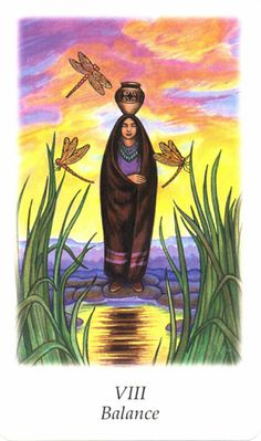 Balance (Justice) - Vision Quest Tarot by Gayan Sylvie Winter and Jo Dose
