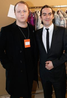 Dhani Harrison and James McCartney support Stella McCartney at her Autumn/'Winter 2013 Paris Fashion Week show. Monday March 4th 2013.