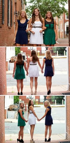 """""""Friendship isn't a big thing - it's a million little things. """" ~Author Unknown I had the blessing to hold a best friend photoshoot for my daughter and her two best friends, one who is going to col. Prom Pictures Couples, Homecoming Pictures, Prom Couples, Senior Pictures, Teen Couples, Bff Pictures, Dance Pictures, Senior Pics, Maternity Pictures"""