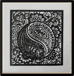 Картина панно рисунок Вырезание Индийские мотивы 14 Бумага фото 1