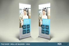 Tile Shop - Roll-Up Banner - V024 by NEXDesign on @creativework247