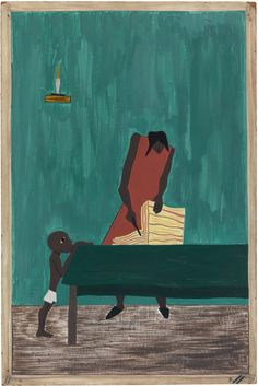 Jacob Lawrence, In many places, because of the war, food had doubled in price. (1941)