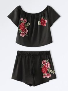 GET $50 NOW | Join Zaful: Get YOUR $50 NOW!http://m.zaful.com/cropped-floral-embroidered-top-and-drawstring-shorts-p_273599.html?seid=570j5kevq4m774bu197rpq1ga4zf273599
