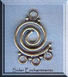 Sterling Silver Fancy Bohemian Chandelier Earring Parts (2 ...