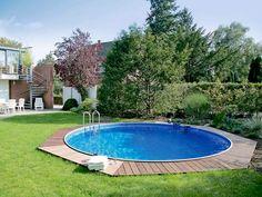 Steel wall basin: simple and simple - pool - garten dekore Back Gardens, Outdoor Gardens, Piscine Simple, Outdoor Fencing, Simple Pool, Stock Tank Pool, Paint Your House, Diy Fence, Big Garden