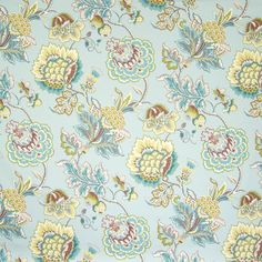 Striking mineral floral drapery and upholstery fabric by Greenhouse. Item B6695-MINERAL. Save big on Greenhouse. Free shipping! Always 1st Quality. Search thousands of fabric patterns. Width 55 inches. Sold by the yard.