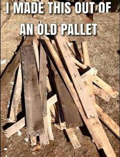 Look What I Made! #DIY #Pallet #Crafty