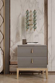 Leinwandbild Schlafzimmer über Sideboard modern Style DESIGNBILDER 90x120cm