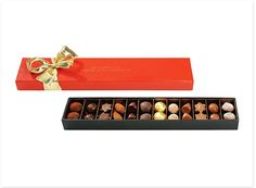"""Mixed Truffles  """"Boîte Longue"""" Holiday Gift Guide, Holiday Gifts, Christmas Truffles, Chocolate Truffles, Inspirational Gifts, Craft Items, Food Pictures, Drinking, Gift Ideas"""