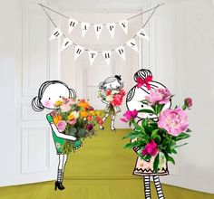 Annelinde Tempelman / Bosje bloemen voor de jarige