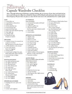 This free printable ultimate capsule wardrobe checklist is exactly what I need t. This free printable ultimate capsule wardrobe checklist is exactly what I need to put together a classic and stylish closet full of clothing I love to wear! Capsule Wardrobe Mom, Build A Wardrobe, Work Wardrobe, Basic Wardrobe Essentials, Capsule Outfits, Staple Wardrobe Pieces, Professional Wardrobe, Wardrobe Staples, Capsule Clothing
