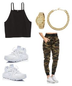 """""""Untitled #982"""" by tanasia2266 ❤ liked on Polyvore featuring Michael Kors, ASOS and NIKE"""