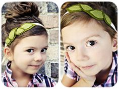 So I know this leaf headband is pictured on a little girl, but I want to make one for myself!
