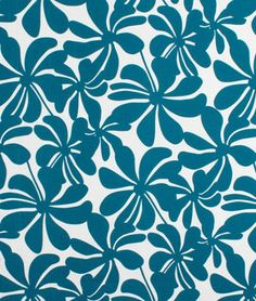 Premier Prints Outdoor Twirly Blue Moon Fabric - OnlineFabricStore