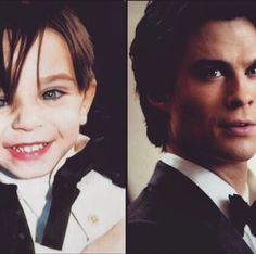 #TVD The Vampire Diaries Ian Somerhalder(Damon) as a child