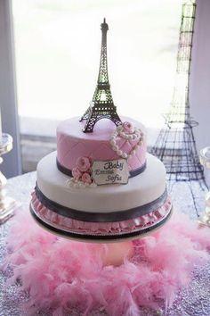 Gorgeous cake at a Paris party Paris Party, Paris Birthday Parties, Baby Shower Cakes, Fiesta Baby Shower, Bolo Paris, Cake Paris, Paris Themed Cakes, Gorgeous Cakes, Pretty Cakes